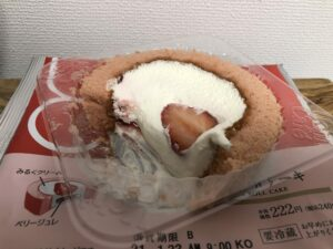 Strawberry Milk Swiss Roll/LAWSON