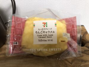 Crepe with Apple Caramel Sauce/Seven Eleven