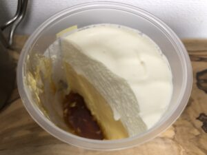 Custard Pudding with Whipped Cream/LAWSON
